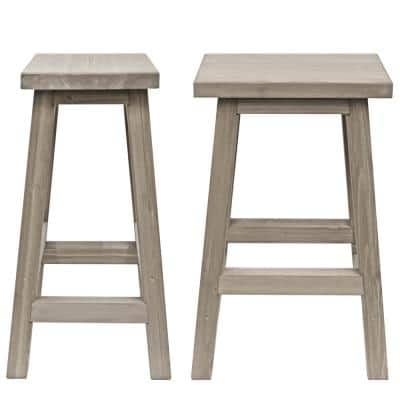 Madison 29 in. Saddle Wood Outdoor Bar Stool (2-Pack)