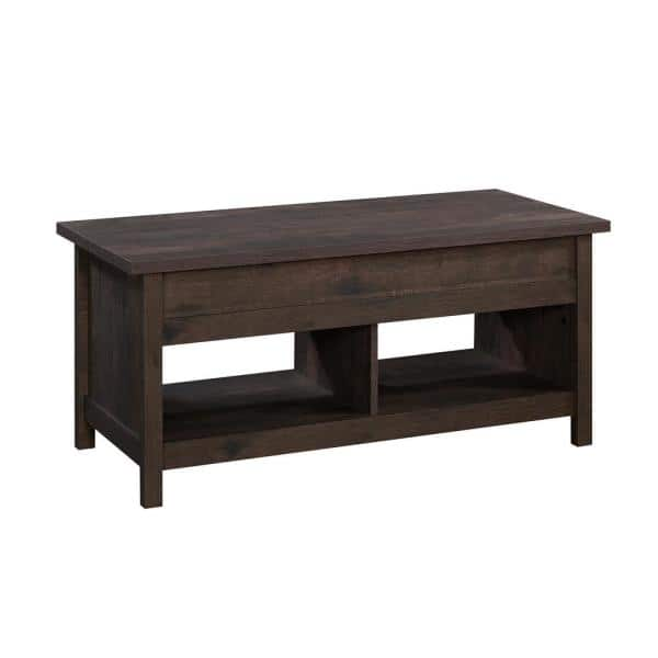 Cannery 44 In Coffee Oak Large Rectangle Composite Coffee Table With Lift Top 426151 The Home Depot