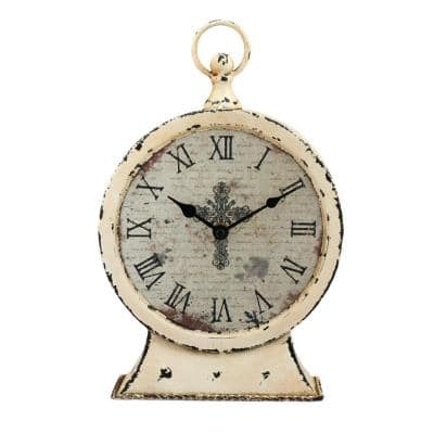 12.5 in. x 3 in. Faith Round Tabletop Clock