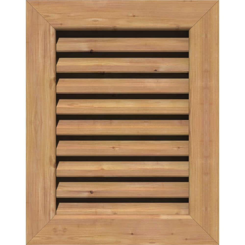 Ekena Millwork 21 In X 29 In Rectangular Unfinished Smooth Western Red Cedar Wood Paintable Gable Louver Vent Gvwve16x2401sfuwr The Home Depot