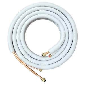 16 ft. 1/4 in. x 1/2 in. Flared Line Set Kit with Communication Wire, Wall Sleeve and Drain Hose