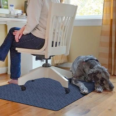 Richmond Weave 3 ft. x 4 ft. Desk Chair Mat - Navy