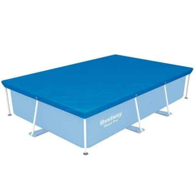 Flowclear Rectangular Pro Blue Above Ground Swimming Pool Leaf Cover