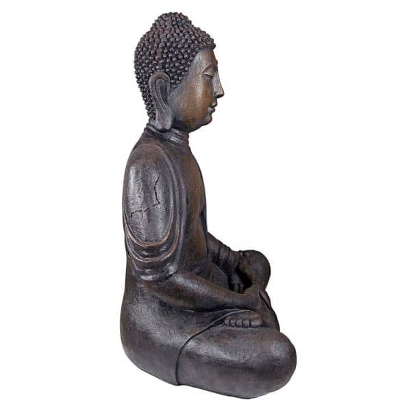 Design Toscano 40 In H Meditative Buddha Of The Grand Temple Large Garden Statue Al1160 The Home Depot