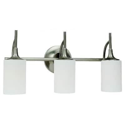 Stirling 3-Light Brushed Nickel Vanity Light