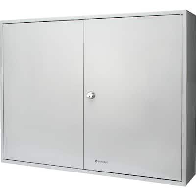 400-Position Steel Key Lock Box Safe with Key Lock, Gray