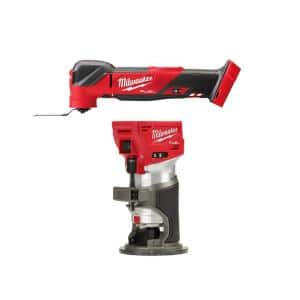 M18 FUEL 18-Volt Lithium-Ion Cordless Brushless Oscillating Multi-Tool with FUEL Compact Router (2-Tool)