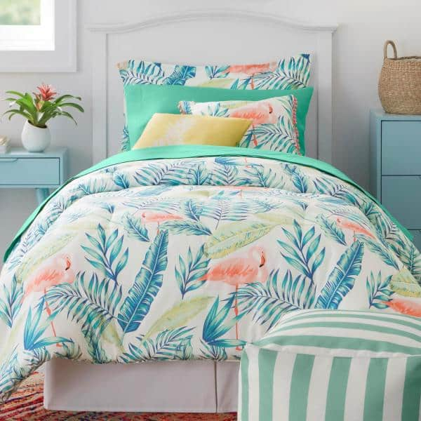 Stylewell Marisol Tropical Palms Full, Queen Size Bedding In A Bag