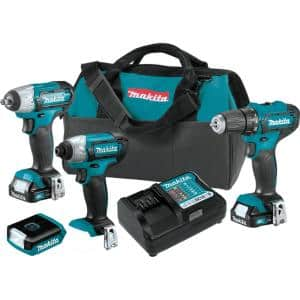 12-Volt MAX CXT Lithium-Ion Cordless Combo Kit (Driver-Drill/Impact Driver/Impact Wrench/Flashlight) 1.5 Ah (4-Piece)
