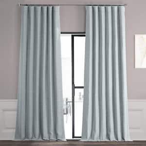 Gulf Blue Rod Pocket Blackout Curtain - 50 in. W x 96 in. L