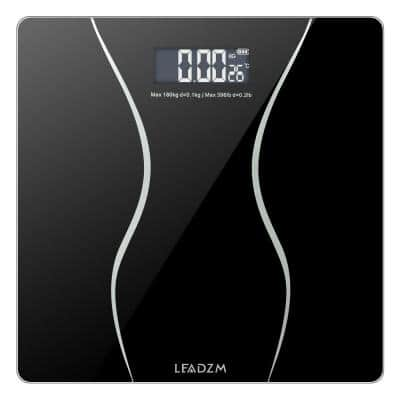 396 lb. Digital Bathroom Scale Toughened Glass Electronic Weight Scale