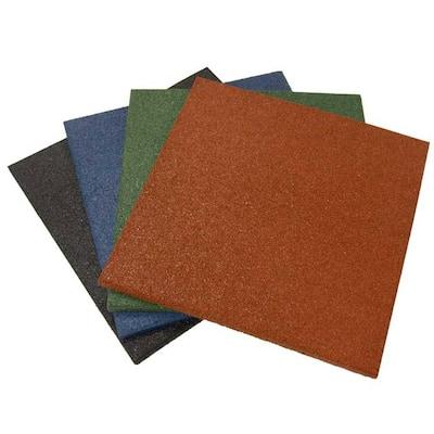 Eco-Sport 3/4 in. x 19.5 in. x 19.5 in. Coal Interlocking Rubber Tiles (5-Pack, 14 sq. ft.)