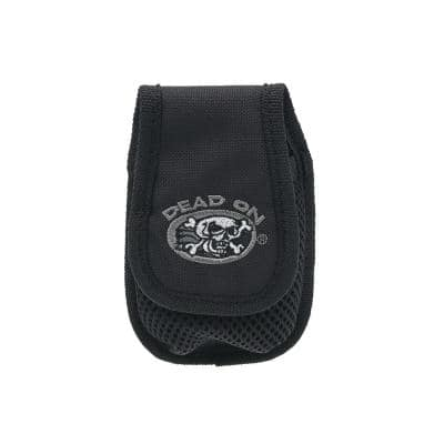Cell Punk Small Cell Phone Holder Accessory with Dual Fastening System for Tool Belt, Rig, Bag, or Belt Loops in Black