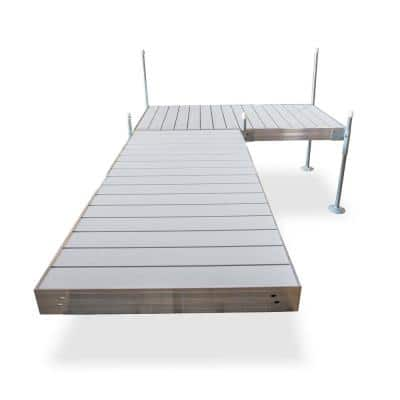 12 ft. L-Style Aluminum Frame with Aluminum Decking Platinum Series Complete Dock Package