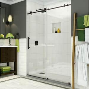 Coraline 44 in. - 48 in. x 76 in. Frameless Sliding Shower Door in Bronze