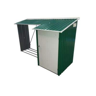 8.9 ft. x 3.5 ft. Wood Store Combo in Green Shed