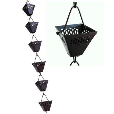 8.5 ft. Black Aluminum Jali Rain Chain