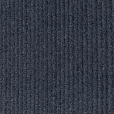 Peel and Stick First Impressions High Low O. Blue 24 in. x 24 in. Commercial Carpet Tile (15-tile / case)