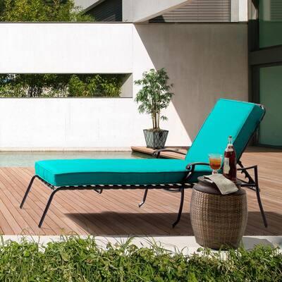 23 x 80 Sunbrella Canvas Aruba Outdoor Chaise Lounge Cushion