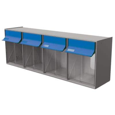 24 in. W Stackable 4-Plastic Storage Bins Tilt Bins Organizer for Everything from DIY to Crafts