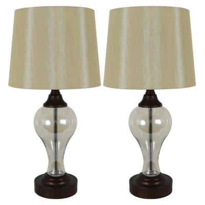 Brady 17.25 in. Bronze Table Lamps with USB Ports (Set of 2)