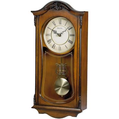 19 in. H x 9 in. W Pendulum Chime Wall Clock