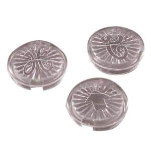 Hot/Cold/Diverter Index Buttons for Faucet Handles
