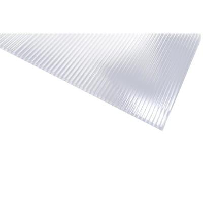 Sunlite 24 in. x 48 in. x 5/16 in. Polycarbonate Clear Twinwall Sheet