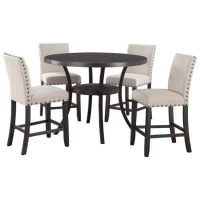 Best Master Furniture Hakan 5 Piece, Round Dining Table Sets