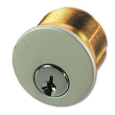 1 in. Satin Chrome Mortise Cylinder Keyed Alike in Paris