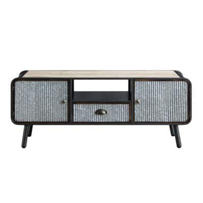 Duarte Black 47.2 in. Wood Entertainment TV Stand Fits Up to 55 in. TV
