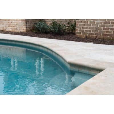 2 in. thick 0.16 in. x 24 in. Tuscany Beige Travertine Pool Coping (2.67 sq. ft.)