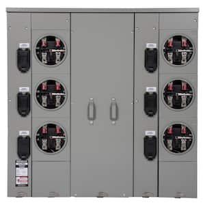 Uni-PAK 6-Gang 400 Amp Ringless Style Multi-Family Metering