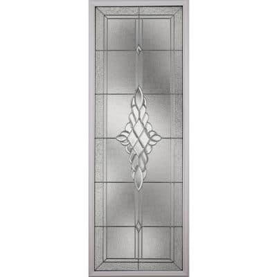 Grace with Nickel Caming 22 in. x 64 in. x 1 in. with White Frame Glass Replacement Glass