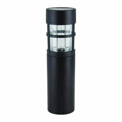 Solar Black Outdoor Integrated LED Landscape Path Bollard Light (6-Pack)