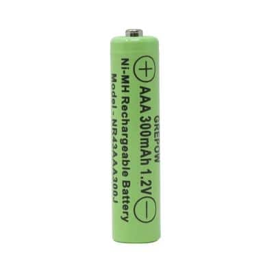 Rechargeable 300mAh NiMH AAA Batteries for Solar-Powered Units (4-Pack)