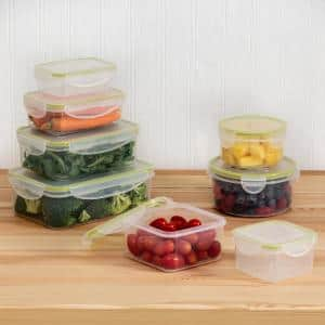 16-Piece Clear Locking Plastic Food Container Set