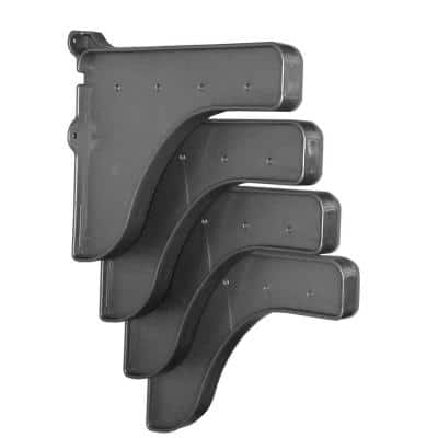 12 in. x 10 in. Silver End Brackets (Set of 4) for Shelf ( for mounting to back wall/connecting