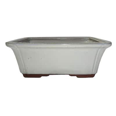 Large New Cream Rectangle Pot