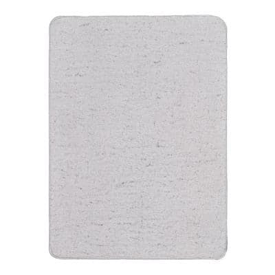 Rabbit Collection Soft Gray 2 ft. x 3 ft. Non-Slip Solid Accent Rug