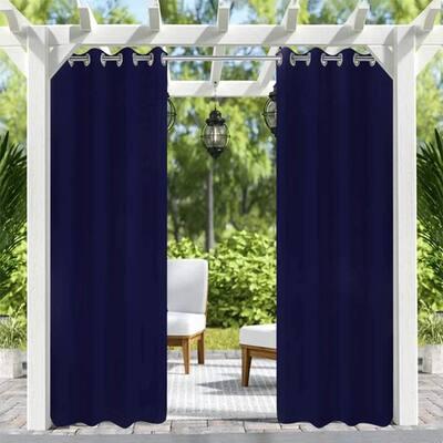 50 in. x 108 in. Indoor Outdoor Curtains Grommet Curtain (1 panel )