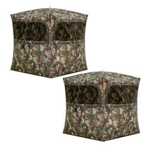 Grounder 350 Bloodtrail Camo Pop Up Ground Hunting Blind (2-Pack)