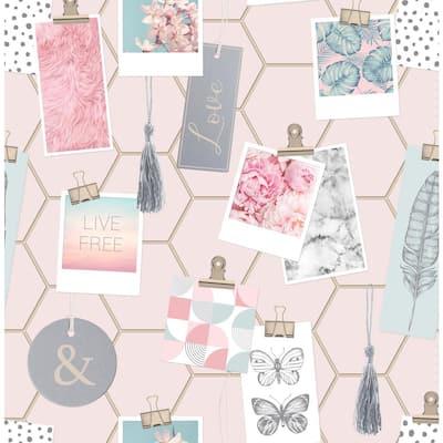 Clip Frames Pink Wallpaper Sample