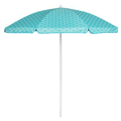 5.5 ft. Portable Beach Umbrella in Mermaid Teal