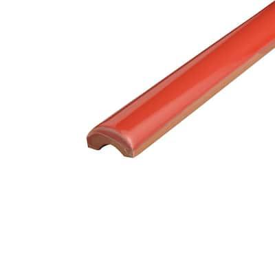 Bordon Rojo Moldura 1 in. x 7-7/8 in. Ceramic Pencil Wall Trim Tile