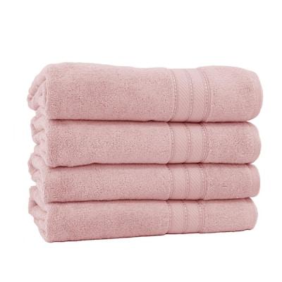 Spunloft 4-Piece Blush Solid Cotton Bath Sheet Set