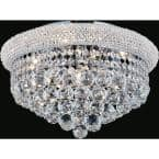 Empire 5-Light Chrome Flush Mount