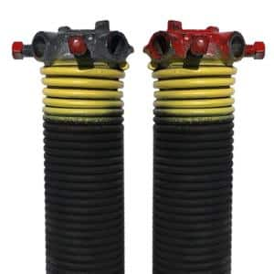 0.207 in. Wire x 2 in. D x 31 in. L Torsion Springs in Yellow Left and Right Wound Pair for Sectional Garage Doors