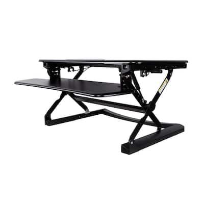 35 in. Rectangular Black Standing Desks with Adjustable Height