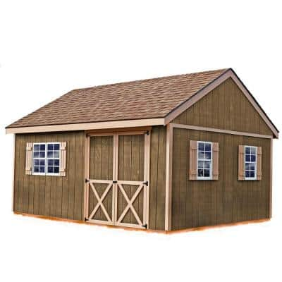 New Castle 16 ft. x 12 ft. Wood Storage Shed Kit